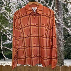 Talbots stretch sz 12 blouse (856)